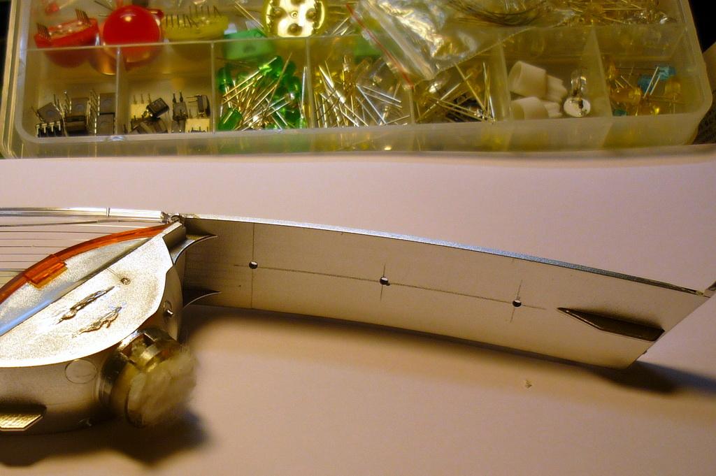 Разметка отверстий под светодиоды в отражателе