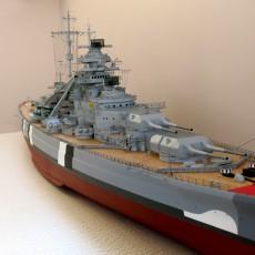 Модель линкора Бисмарк, нос.