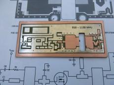 Плата генератора 950-1100МГц
