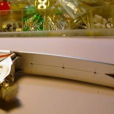 Разметка отверстий в отражателе повортника под светодиоды