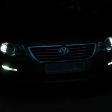 Так светятся светодиодные поворотники на Пассате