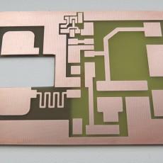 Плата мощного ВЧ-генератора с вырезом под MOSFET транзистор.