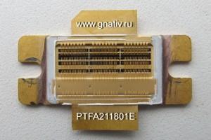 Внутренняя структура мощного MOSFET транзистора PTFA211801E