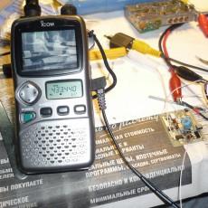 Трансляция Лунтика видеопередатчиком 430 МГц. на IC-R3