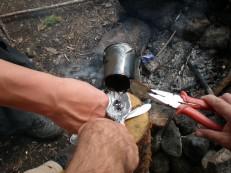 Заливка свинца в ложку