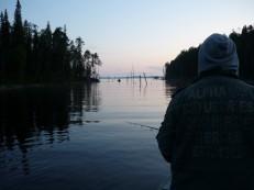 Ночная рыбалка в заливе