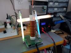 Проверка работы качера газоразрядными лампами.