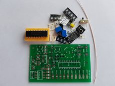 Состав набора SD-01-9V, экспериментальный детектор грозы. Набор для самостоятельной сборки.