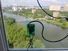 Тестирование экспериментального детектора грозы с различными видами антенн